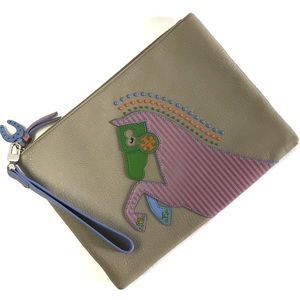Tory Burch Horse Large Zip Pouch